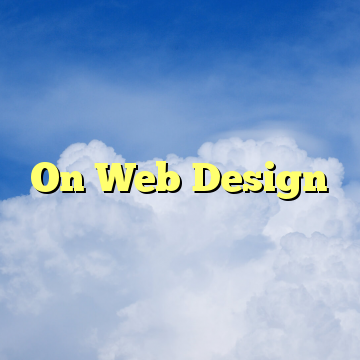 On Web Design